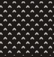 seamless flower polka pattern vector image vector image