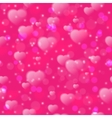 Seamless pattern with fuzzy hearts on pink vector image