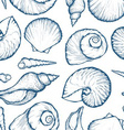 Seashell Patterned Background vector image vector image
