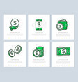 set of bank and money colored elements for vector image vector image