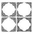 set of decorative black frames vector image