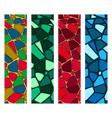 set of modern mosaic seamless pattern