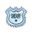 sheriff shield badge american justice emblem vector image vector image