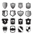 Shield icons set in simple style vector image vector image