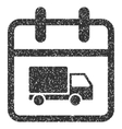 Shipping Day Grainy Texture Icon vector image vector image