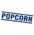 square grunge blue popcorn stamp vector image vector image