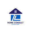 t l home consulting logo designs simple modern vector image