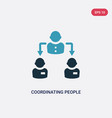 two color coordinating people icon from social vector image vector image