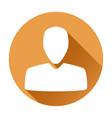 user icon orange round sign vector image