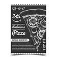 vegetable pizza italian slice piece poster vector image vector image