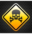 Warning sign with skull vector image