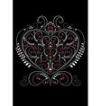 White openwork pattern in the form of heart vector image vector image