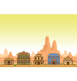 wild west town vector image