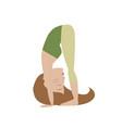 woman doing yoga cartoon vector image vector image