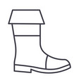 fishing boots line icon sign vector image