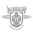 Knight warrior in armor with a sword vector image