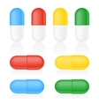 Medicine Capsule on white vector image