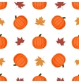 Seamless background with pumpkins and autumn vector image