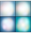 Abstract set of multicolored backgrounds defocused vector image vector image