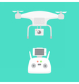 Aerial drone and drones controller vector image vector image