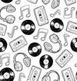Analog music pattern vector image vector image
