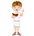 Ancient greek man cartoon vector image