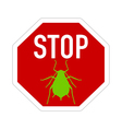 Aphid stop sign vector image vector image