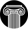 architectural element corinthian column vector image