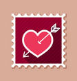 arrow heart stamp love sign vector image