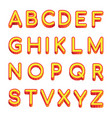art letters latin alphabet isolated on vector image