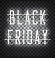black friday white neon sign vector image