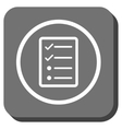 Checklist Page Rounded Square Icon vector image vector image