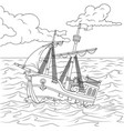 children sailing ship vector image