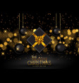 christmas gift and baubles background vector image vector image