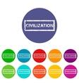 Civilization flat icon vector image vector image