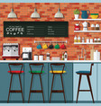 coffee bar design vector image vector image