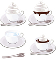 coffee with cream vector image