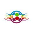 colorful ball tech logo designs concept colorful vector image vector image