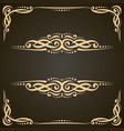 decorative golden frames vector image