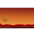 Desert and planet space landscape vector image vector image