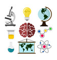 education related objects set vector image