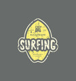 emblem with rough texture for surfing club vector image