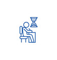 examing test writing man at desk line icon vector image vector image