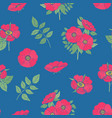 floral seamless pattern with pink dog rose flowers vector image