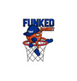funked ball mascot vector image vector image