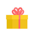 gift box with bow isolated christmas and birthday vector image