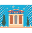 greek ancient treasury vector image vector image