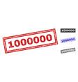 grunge 1000000 scratched rectangle stamp seals vector image vector image