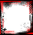 grunge black and red elements frame vector image