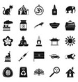 habitat icons set simple style vector image vector image